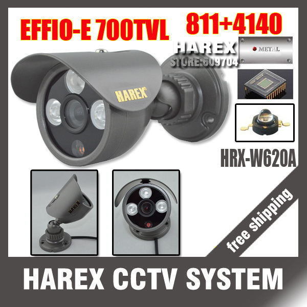 "1/3"" Sony Effio-e 700TVL 960H 3pcs Array IR LEDS outdoor/indoor waterproof Security CCTV Camera with bracket.Free shipping(China (Mainland))"