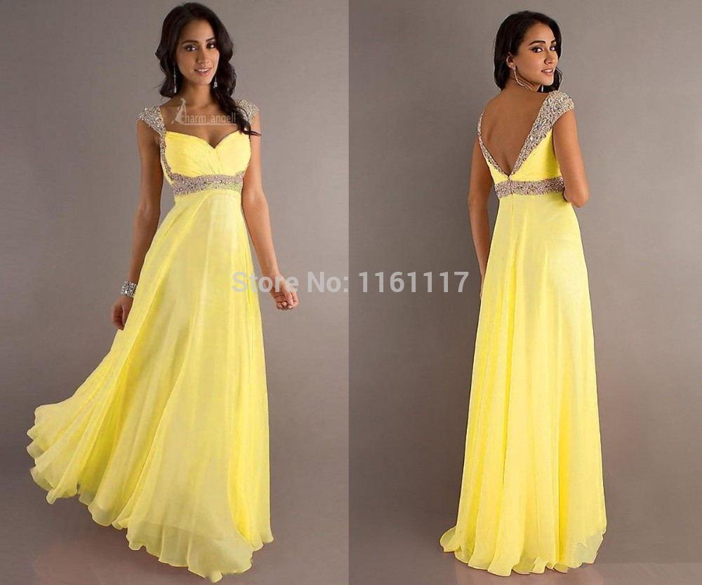 Robe de soiree jaune et noir