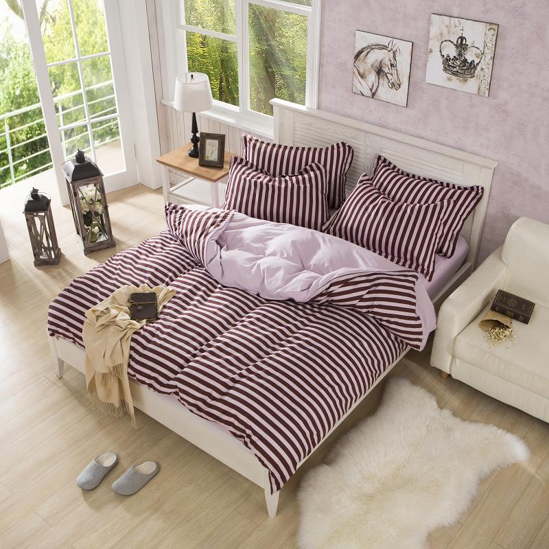 twin full size brown and pink striped bedding best bed