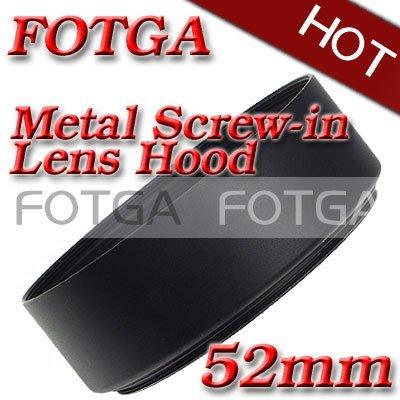 Wholesale Fotga Screw Mount 52mm Standard metal Lens Hood for Canon Nikon 52mm Lens