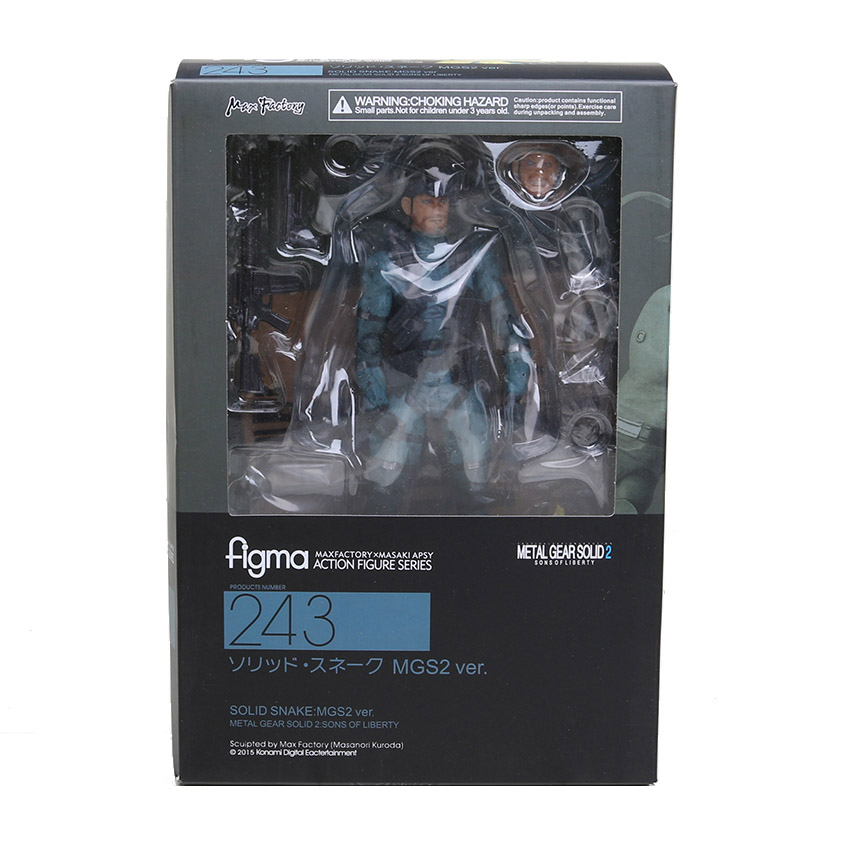 METAL GEAR SOLID 2 solid Snake figma-snake metal-gear-solid-figures figma metal gear Collectible Model Toy 15cm(China (Mainland))