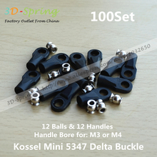 Kossel Delta Kossel Mini 5347 Delta Buckle For M3 M4 Ball Caps Parallel Arm Rod Carbon Rod Joints For 3D Printer Accessories