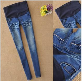 Nuevos pantalones Vaqueros de Maternidad Más Tamaño Elástico de cintura Alta Pantalones de Las Polainas Jeggings para Las Mujeres Embarazadas de Moda Barata Ropa SML XL XXL(China (Mainland))