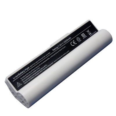 White Replacement for ASUS Eee PC 701 A22-P701 Eee PC 2G 4G Surf A22-700 Eee PC 8G P22-900 Eee PC 900 UMPC NetBook & MID Battery(China (Mainland))