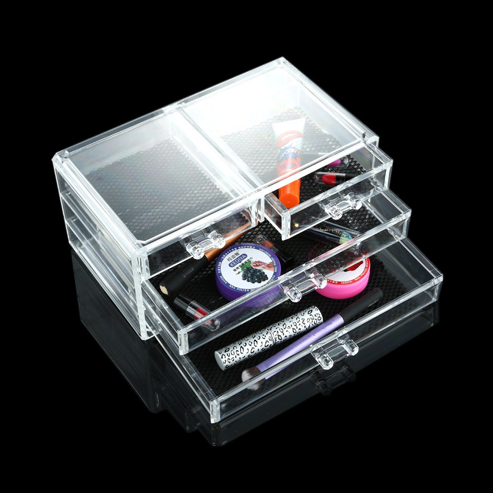 1Pcs Drawers Cosmetic Makeup Organizer Transparent Makeup Case Storage Box Jewelry Storage Cabinet Box Insert Holder(China (Mainland))