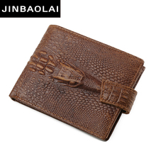 Buy JINBAOLAI Fashion Genuine Leather Men Wallets Bifold Wallet ID Card holder Coin Purse Pocket Brand Male Credit&Id Card Wallets for $8.83 in AliExpress store