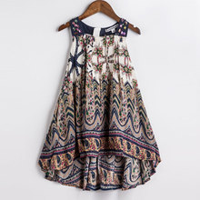 Baby Girls Summer Dress 2016 New Brand Kids Print Party Dress for Girls Children Bohemian Fashion Clothes(China (Mainland))