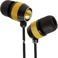 High-grade all-metal-ear Earphone earbuds Music headphones For MP3 ipod Touch IPad shuffle with extra rubber eartips