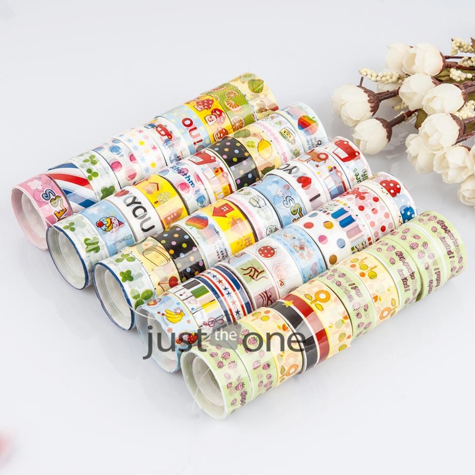 Wholesale 10 pcs lot Pretty kawaii Cute Cartoon DIY Adhesive Tape Sticky Washi Scrapbooking Sticker 25(China (Mainland))