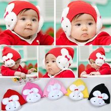 Children Girl Beanie Hat Double Rabbit For Keep Ear Warm Winter Kid Boy Cute Cap