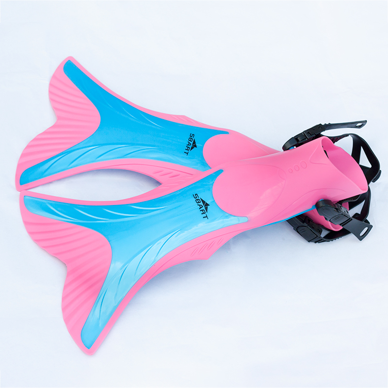 SBART Mermaid Flippers Kids Scuba Diving Swimming Flippers For Girls Boys Adjustable Training Free Swim Fins Snorkel Monofin L08(China (Mainland))