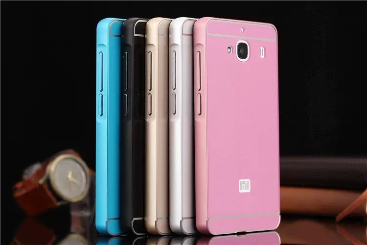 Slim Aluminum Metal Chrome Hard Bumper Acrylic Bumper Case Cell Phone Bumper For Xiaomi Hongmi 2 Redmi 2(China (Mainland))