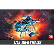Advantest US aircraft model 12260 1/48 MH-6 helicopter