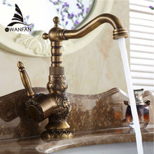 New Arrivel Home decoration Single Handle Bathroom Sink Mixer Faucet crane tap Antique faucet  Brass Hot and Cold Water AL-9966F(China (Mainland))