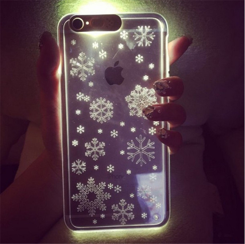 Anti-knock case Fashion Luminous phone shell Calls Flash mobile phone sets LED shell Japanese and Korean style 5S 6 6plus HX001(China (Mainland))