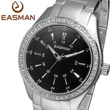 EASMAN Brand Ultra Light Titanium Aluminum 46 Cubic Zircons Shine Quartz Watches Wristwatch Women Lady Best Watch For Gift
