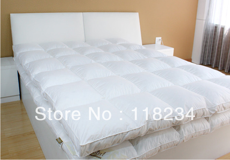 Rose-Free Shipping Mattress Topper-90% Goose Down &amp;2-4cm -90*190cm-Anti-allergenic<br><br>Aliexpress
