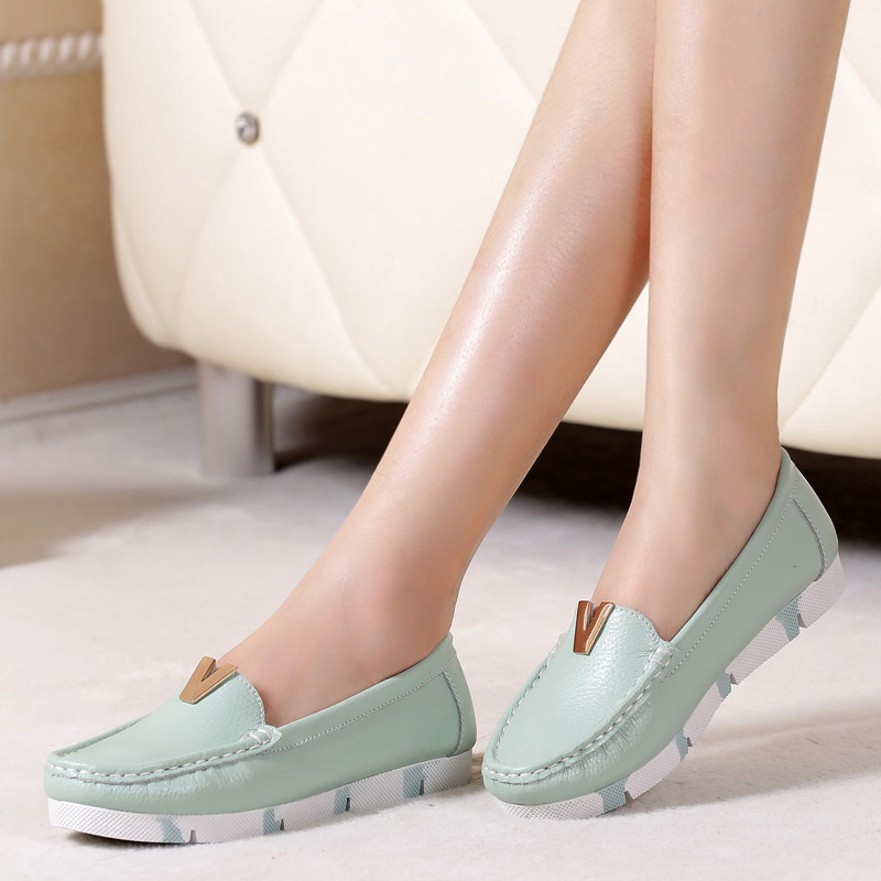 Genuine Leather Oxford shoes for women with shallow flats platform shoes leather casual shoes wholesale<br><br>Aliexpress