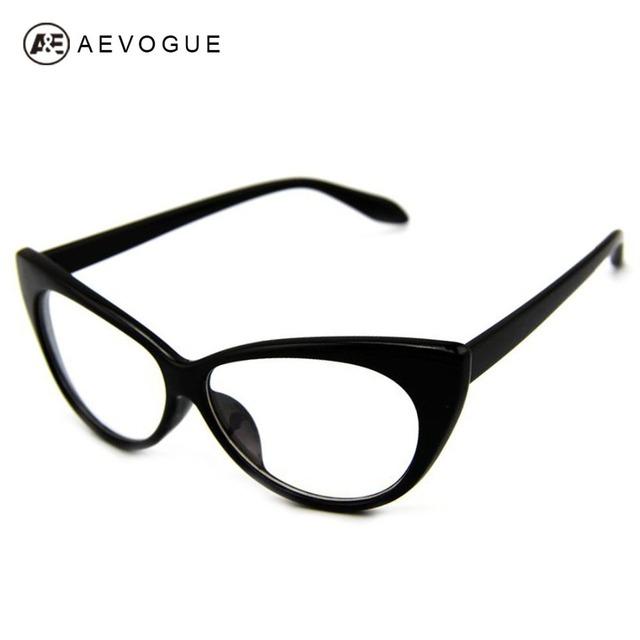 Aevogue обычном понимании очки моделирование глаз марочное кошачий солнцезащитные очки женщин кадр очки прозрачные линзы очки DT0083
