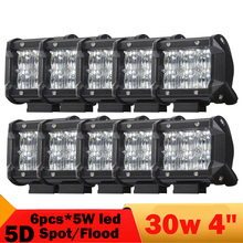Buy 10 Pcs 5D 30W Led Work Light 4 Inch 3000LM Road Headlight DRL Jeep Wrangler 4WD 4X4 Truck Boat ATV UTB UTV Motorcycle for $131.55 in AliExpress store