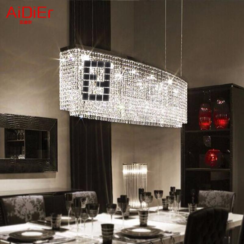 Simple Rectangular Bar Dining Room Lighting Creative Meals Lamps