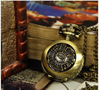 FG 244 Free Shopping Pocket watch wholesale antique fashion High Quality retro alloy musical note pocket