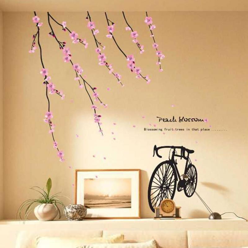 Diy home decor wall sticker decal modern perfect flower for Wall stickers decor modern