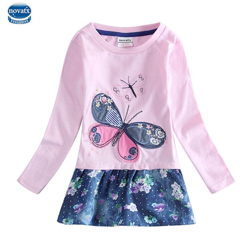 retail baby girl dress for girl dresses nova kids girl clothes brand children flower print long sleeve girl dress kids clothes<br><br>Aliexpress