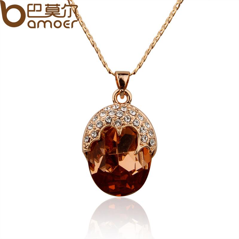 Цепочка с подвеской Bamoer JSN063 gold necklace браслет цепь bamoer 925