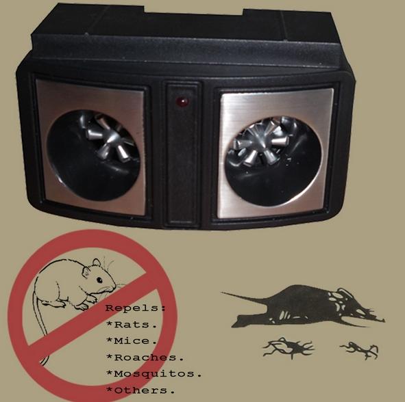 Double Sound Pest Repeller Ultrasonic Rodent Scarer Speaker Mole Repeller(China (Mainland))
