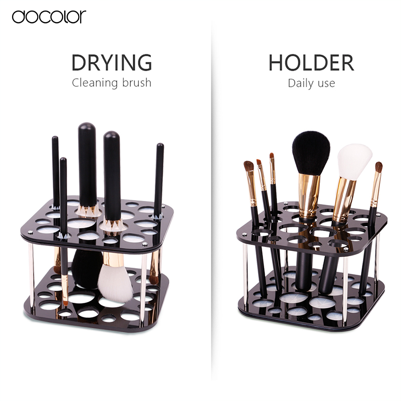 Docolor brush organizer Stand Tree Dry Brush holder Brushes Accessories Comestic Brushes Aside Hang Tools Free Shipping