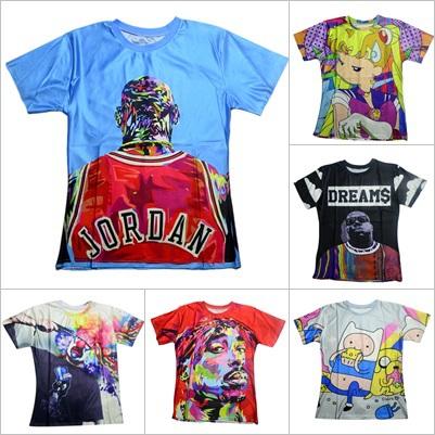 Женская футболка 2015 Harajuku /T /Biggie /Tupac 2pac/3d T0316 детская футболка классическая унисекс printio 2pac tupac