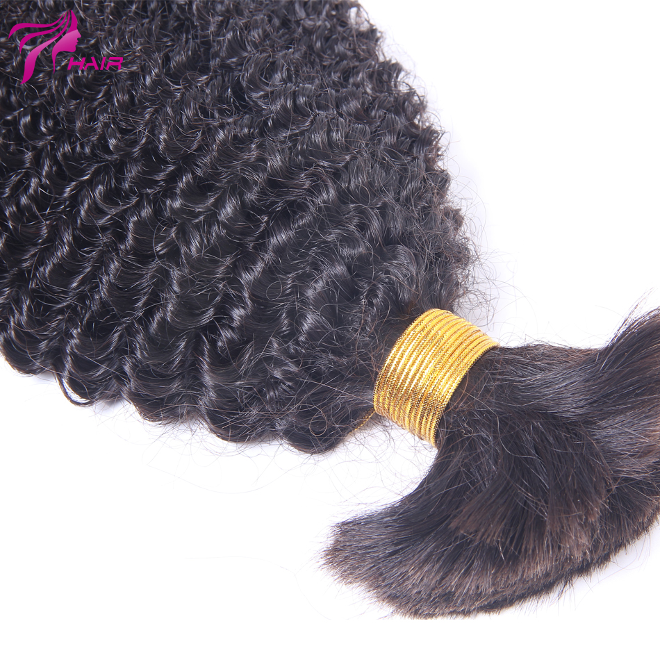 Indian Kinky Curly Bulk Hair Human Braiding Hair Bulk 8-26inch 100g/pcs Bulk Human Hair Extensions 1pcs/set Remy Human Hair