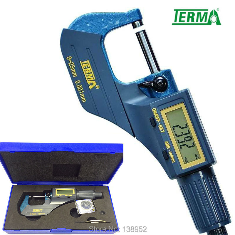 Terma brand 0-25mm 0.001mm micron outside micrometer electronic digital readout micrometer(China (Mainland))