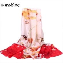 Designers Scarves Women Retro Totem Printed Long Chiffon Wrap Scarf Summer/Autumn Ladies Soft Shawls Scarves Stoles #JU(China (Mainland))