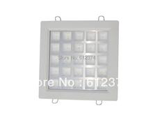 Kit=10pcs Free Shipping factory price 25w led ceiling high lumen grille lamp square white spot lighting lamp white/warm white(China (Mainland))