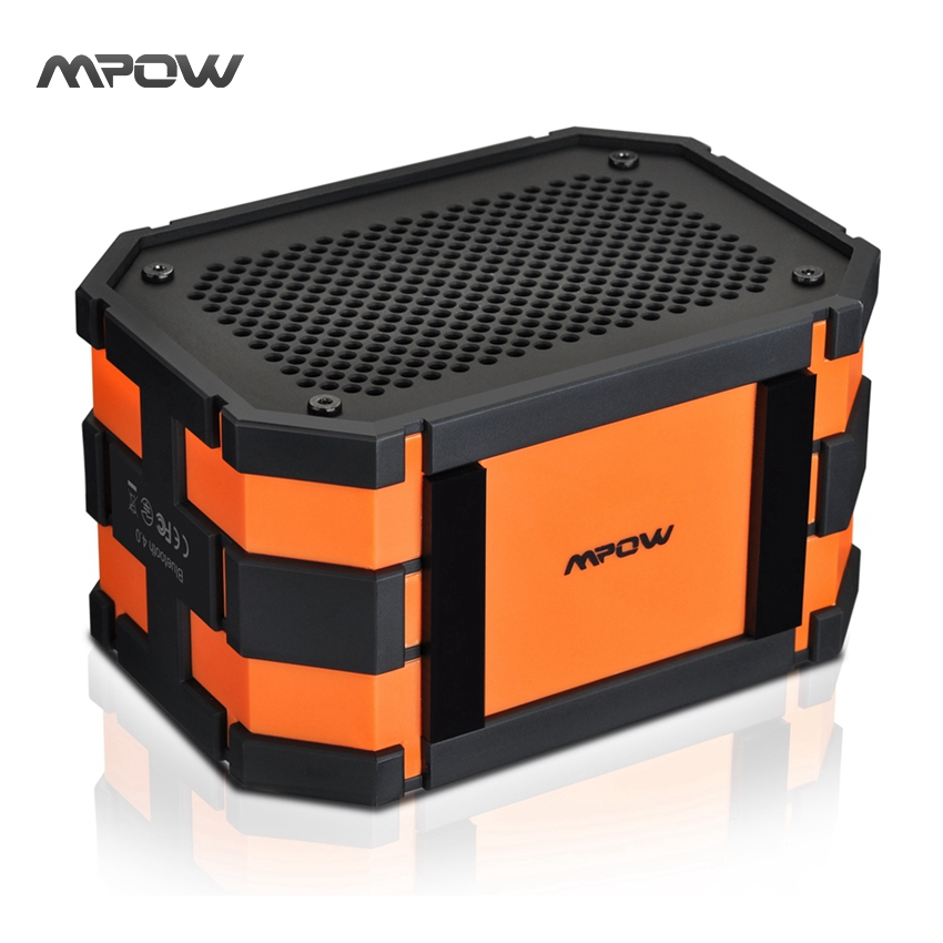 Mpow Updated Armor Bluetooth Speaker Passive Loudspeakers Portable Waterproof Outdoor MP3 Speakers Power Bank for iPhone Xiaomi(China (Mainland))