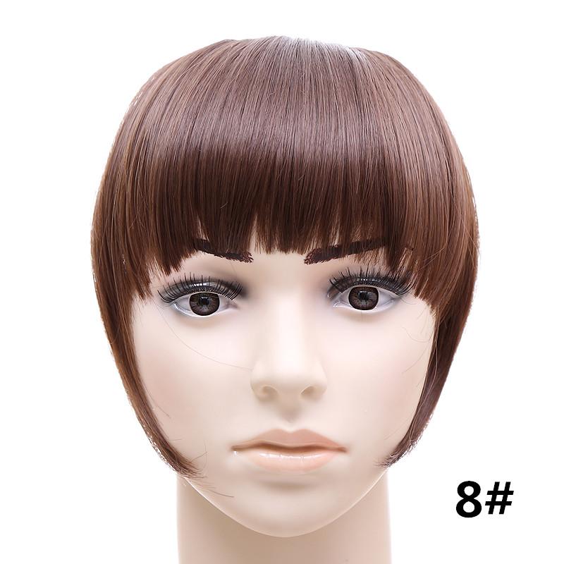 Jeedou короткий передний аккуратный челка клип короткая заколка для волос прямые 8#.1_