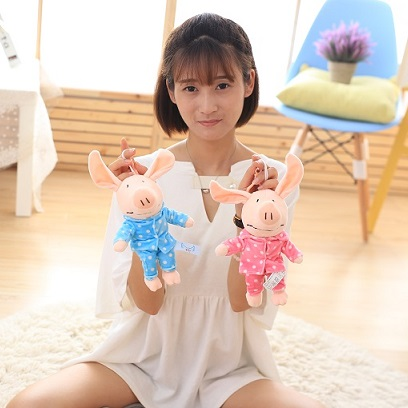 New Hot Cute Soft Happy Angel Pig Plush Toy Six Design Children Lovers Present 20cm 8inch No Including The Ear Free Shipping(China (Mainland))