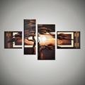 4 piece canvas wall art huge Modern abstract tree canvas art wall picture large beautiful landscape