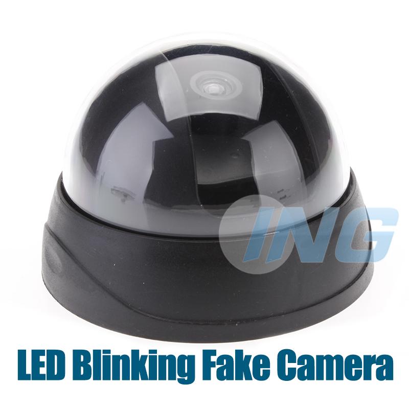 Mini Fake Camera Realistic Dummy Decoy Security Camera Surveillance Dome Fake Cam CCTV Camera with Blinking LED(China (Mainland))