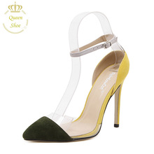 2016 Sexy High Heels 11cm Buckle Women Pumps New Fashion Party Dress Shoes Spring Summer Women Shoes zapatos mujer(China (Mainland))