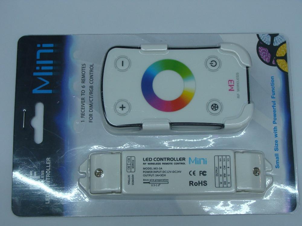 M3 RF Wireless Full Touch MINI RGB Controller for RGB strip light LTECH(China (Mainland))