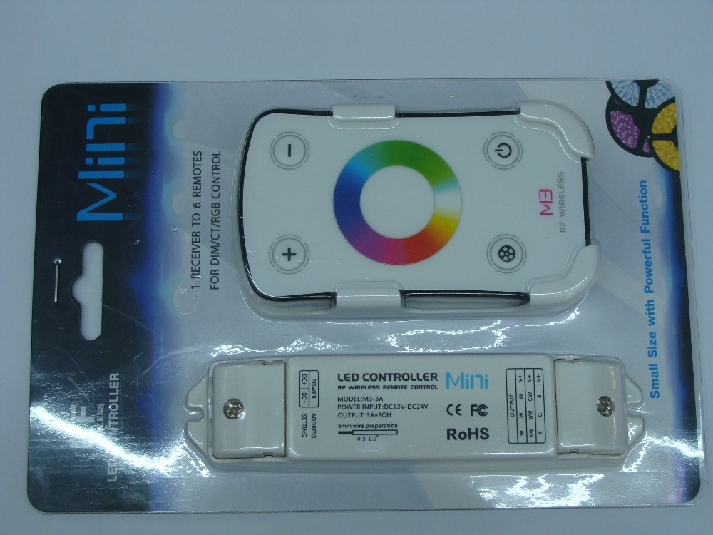 New arrival RF Wireless Full Touch MINI RGB Controller for RGB strip light Free Shipping(China (Mainland))