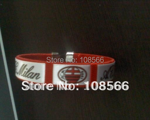acmilan red  wristlet  /  soft knitting sports bracelet  2pcs