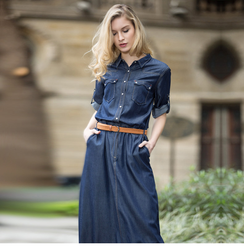 New 2015 Veri Gude Womens Fashion Loose Long Jean DressОдежда и ак�е��уары<br><br><br>Aliexpress