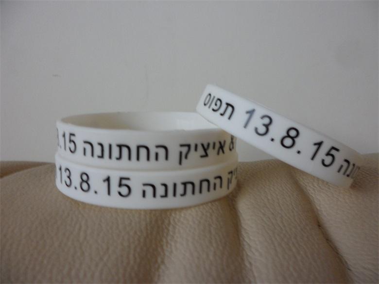 Здесь можно купить  100PCS Customized 1 color silicone band, rubber bracelets for promotion gifts P071201  Ювелирные изделия и часы