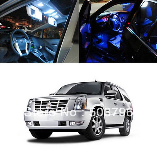 Free shipping 8 x 5050 SMD Light LED Full Interior Lights Package Deal For 2007 and up Cadillac Escalade<br><br>Aliexpress