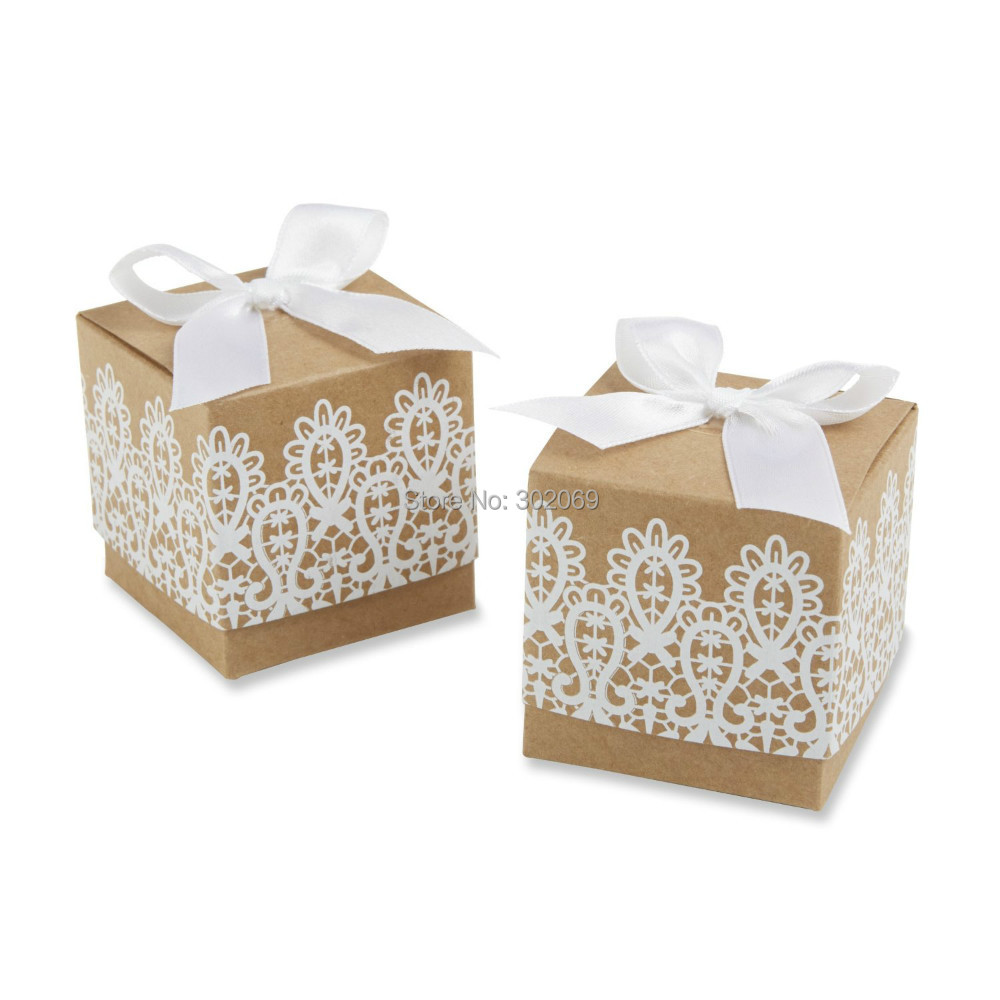 Rustic Kraft Wedding Candy Paper Box 2015 For Candy