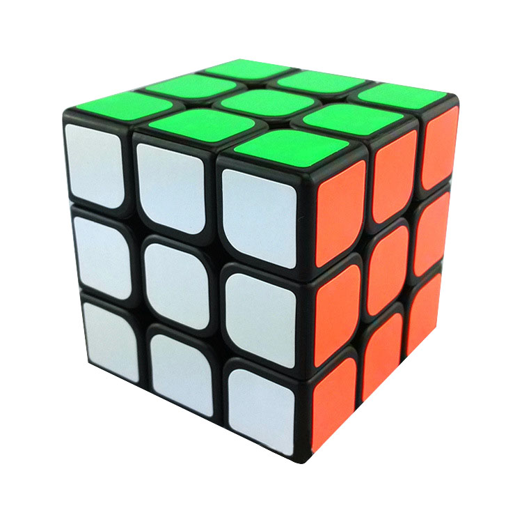 Brand New 3x3x3 Magic Cube Base Black White Puzzle Cube Twist Plastic Megaminx With Sticker For Education Kids Toys Gift